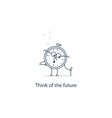 Future thinking time to retire vector image vector image