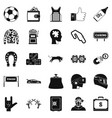 gaming icons set simple style vector image vector image