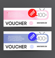 Gift voucher template set Two gift cards design vector image vector image