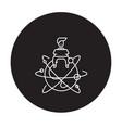 global entrepreneur black concept icon vector image vector image