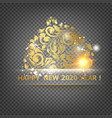 golden ball toy on transparent background vector image vector image