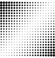 halftone effect background dotted balck vector image vector image
