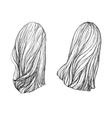 Hand drawn hair vector image vector image