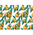 hand-drawn tropical seamless pattern with branch vector image vector image