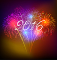 Happy new year fireworks 2016 holiday background vector image vector image