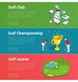 Horizontal Golf Club banners with golf car course vector image vector image
