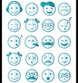 icons set 20 blue color of half vector image