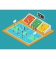 isometric basketball playground with players vector image