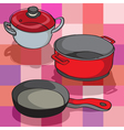 kitchen pans vector image vector image