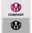 Letter M logo Alphabet logotype design vector image vector image