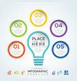 light bulb infographic diagram presentation steps vector image vector image