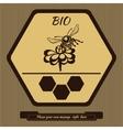 Logo for advertising honey 4 vector image