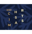 Merry Christmas Abstract Classy Card vector image vector image