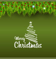 merry christmas bokeh background vector image