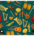 Music pattern of musical instruments flat icons