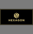 od hexagon logo design inspiration vector image vector image