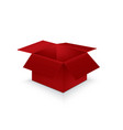 open red paper box on white background vector image vector image