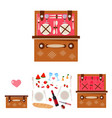picnic basket with dishes vector image