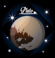 pluto planet in the solar system creation vector image vector image