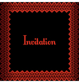red border vector image vector image