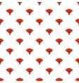 Red open hand fan pattern cartoon style vector image