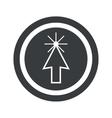 Round black arrow cursor sign vector image vector image