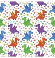 seamless pattern cartoon colorful dragons vector image vector image