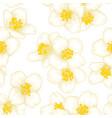 semless pattern branch white flower jasmine with vector image
