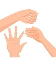 Set of several hands vector image