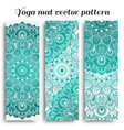 set of yoga mat pattern light colors vector image vector image