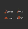 set sound wave abstract symbol voice recorder vector image