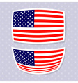 set stylish american flags independence day des vector image