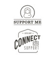 set support contact center service elements vector image vector image