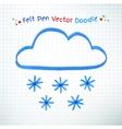 Snowy cloud vector image vector image