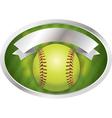 Softball Emblem vector image vector image