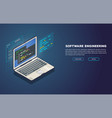 software development banner vector image vector image