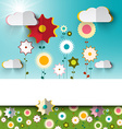 Spring - Summer Sunny Flowers on Garden - Field vector image vector image