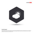 sun cloud icon hexa white background icon template vector image