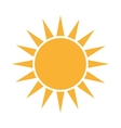 sun sunny yellow isolated vector image