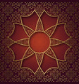traditional ornamental background with eight vector image vector image