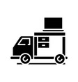 transportation furniture black icon concept vector image vector image