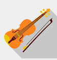 violin icon flat style vector image vector image