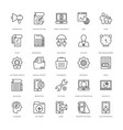 web design and development icons 17 vector image vector image