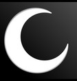 white islamic symbol on black background vector image vector image