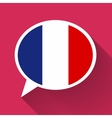 White speech bubble with France flag on pink vector image vector image