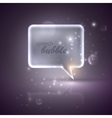 with silver speech bubble vector image