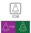 yoga logo outline vector image