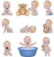 Set of funny children vector image