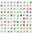 100 trade icons set isometric 3d style vector image vector image