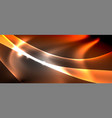 abstract background shiny design neon waves with vector image vector image
